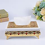 Retro Lluxurious Wooden Tissue Box Holder Cover for Home Office Car Decor , red , 14.5x25.5x10cm