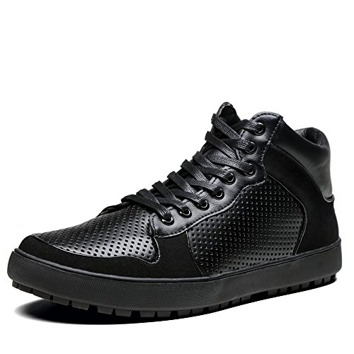 Shenbo Nero Uomo High Top Moda Sneakers Scarpe Casual Nere