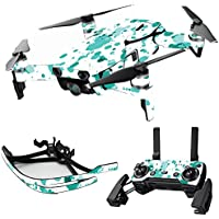 MightySkins Skin for DJI Mavic Air Drone - Teal Splatter | Max Combo Protective, Durable, and Unique Vinyl Decal wrap cover | Easy To Apply, Remove, and Change Styles | Made in the USA