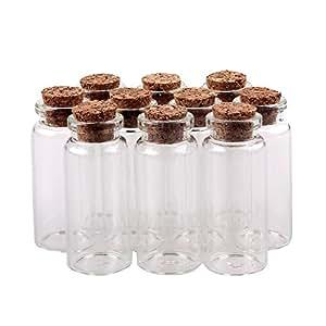 TININNA 10 pcs pequeño Mini tarros de Cristal Botellas