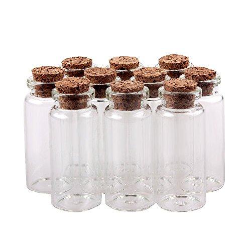 tininna 30 pcs pequeo mini tarros de cristal botellas frascos con tapones de corchomensajedeseo de fiesta de bodas - Frascos De Cristal
