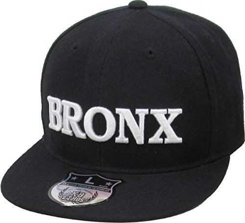 KB-246BX BLK/WHT M Bronx New York Fitted Baseball Cap Hat