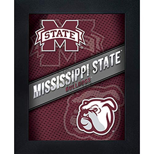 (Mississippi State Bulldogs 3D Poster Wall Art Decor Framed Print | 14.5x18.5 | MSU Lenticular Posters & Pictures | Gifts for Guys & Girls College Dorm Room | NCAA Sports Team Fan Bully Logo & Mascot )