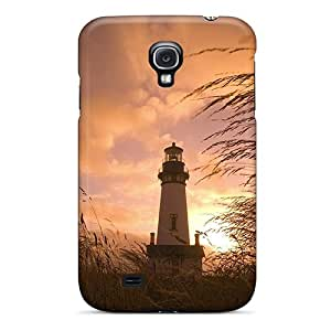 Awesome TiA6157rAKJ TAMasons Defender Tpu Hard Case Cover For Galaxy S4- Gorgeous Lighthouse Sunset