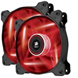 Corsair Air Series AF120 LED Quiet Edition High Airflow Fan Twin Pack CO-9050016-RLED (Red)