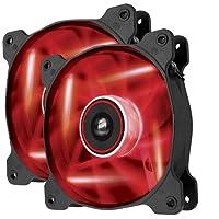 Corsair Air Series AF120 Paquete doble de ventilador de flujo de aire de edición silenciosa LED - Rojo