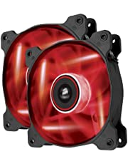Corsair Air Series AF120-LED Quiet Edition High Airflow LED Fan, 120 mm - Red, Dual Pack