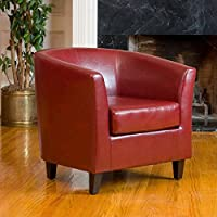Noble House Histoire Oxblood Tub Club Chair in Red