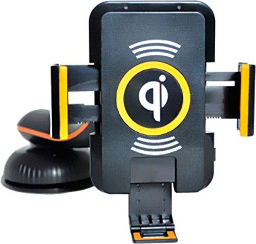 LKL7 Qi SUPERCHARGER FEUER ENERGIE Induktive Kfz Handy Halterung 360°drehbar zum kabellosen Laden Ladestation Induktionsladegerät Auto Ladegerät Wireless Charging Receiver mount holder universal Handyhalter für Qi-zertifizierte Smartphone Adapter Phablets zB für: Samsung Galaxy Note 7 S7, S7 Edge S6 S6 + Plus edge S5 S4 S3 Note 5 4 3 Huawei Mate S Nexus 6 5 4 HTC Droid DNA Nokia Lumia 920 928 930 1520 LG Optimus G Pro G3