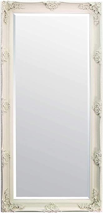 Large Off White Ornate Antique Salon Wall Mirror New 5ft6 X 2ft7 168cm X 79cm Amazon Co Uk Kitchen Home
