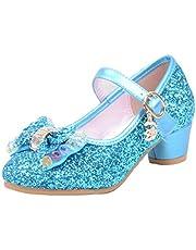 Cool&D Meisjessandalen, Frozen schoenen, prinsessandalen met hak, Oxford-zolen, sandaal met glitterpailletten