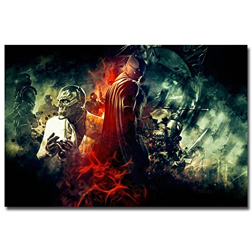 Lawrence Painting Batman Arkham City Arkham Origin Video Game Art Canvas Poster Print 25