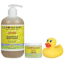 California Baby Calendula Shampoo & Bodywash with Calendula Cream & Bath Duck