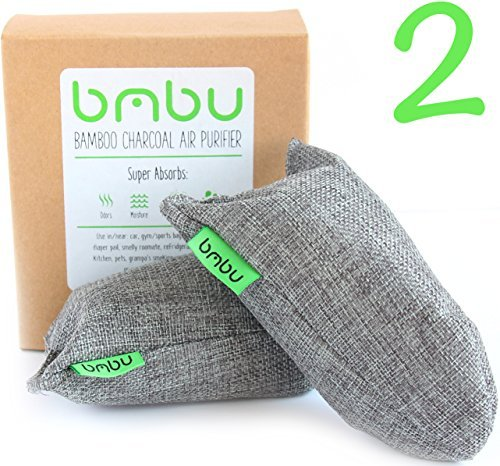 Shoe Deodorizer Bags - Carbon Activated Bamboo Charcoal Air Purifiers (100g x 2) by bmbu