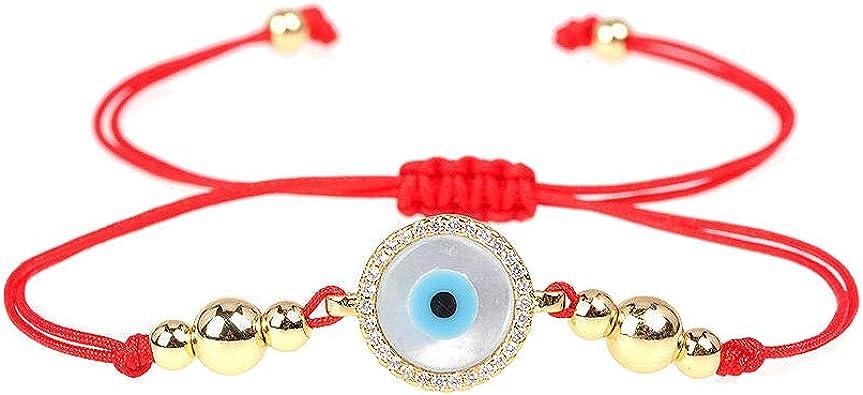 CEYIYA Red String Evil Eye Bracelet for Women Adjustable Ojo Turco Kabbalah Bracelet for Mom Hamsa Hand Bracelet for Kids and Girls
