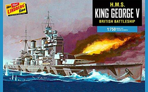 HL447 1/750 WW.II イギリス海軍戦艦 キングジョージ5世 プラスチックモデルキット