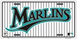 Florida Marlins Classic Metal Auto Tag Embossed