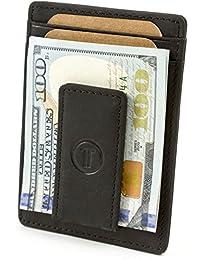 Travami Leather Magnetic Front Pocket Money Clip Wallet