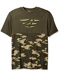 Men's Contrast Color Como W/Paint Sploth Short Sleeve Crew Neck