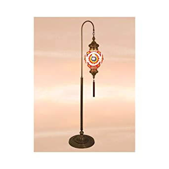 floor lamp mosaic lamps turkish lamp moroccan lamps standing lights french - Standing Lights For Living Room