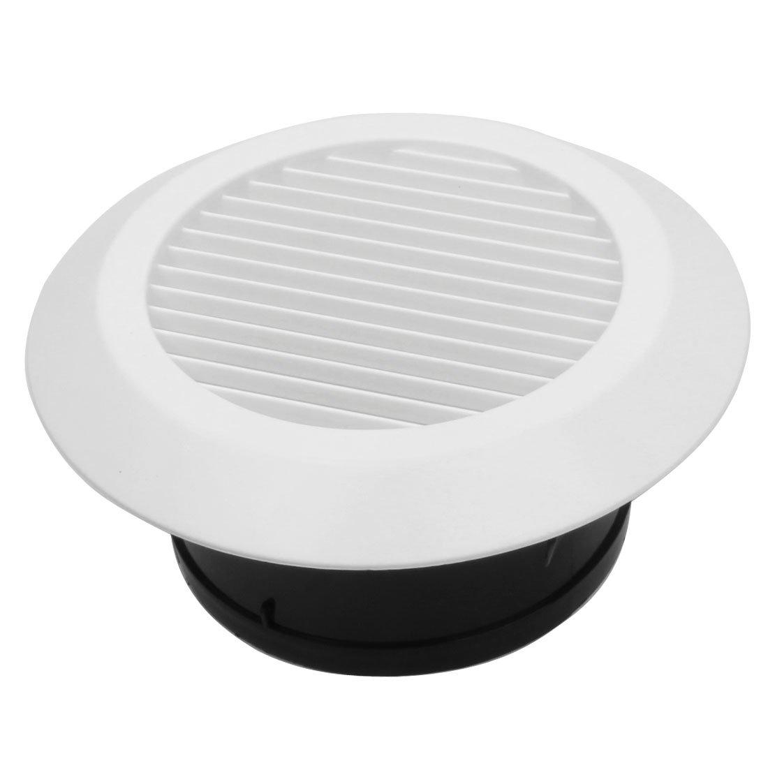 sourcing map Rejillas de Parrilla de ventilació n para conductos de 150 mm de diá metro Salida del aireador ABS Blanco a14080100ux0029