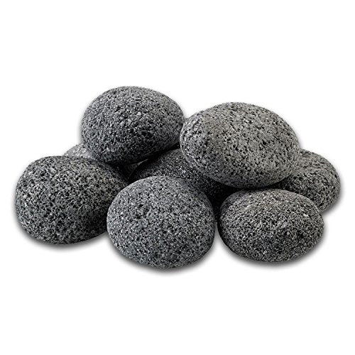 Midwest Hearth 100% Natural Lava Stones for Gas Fire Pit and Fireplace (Large (2