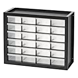 IRIS USA, Inc. DPC-24 24 Drawer Parts and Hardware Cabinet, Black