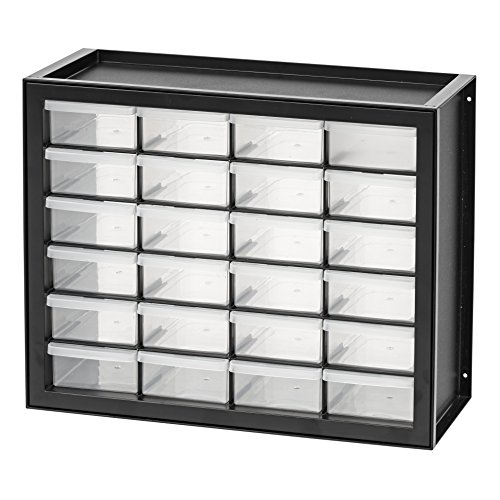 (IRIS USA, Inc. DPC-24 24 Drawer Parts and Hardware Cabinet, Black)