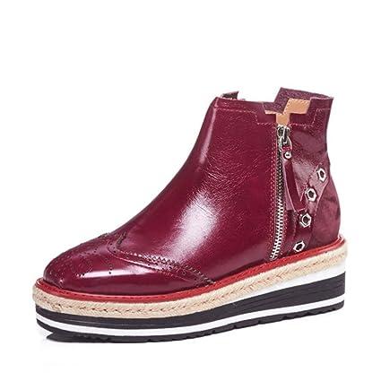new styles e643e fce77 Amazon.com: Hy Women's Shoes,Leather Fall/Winter Comfort ...