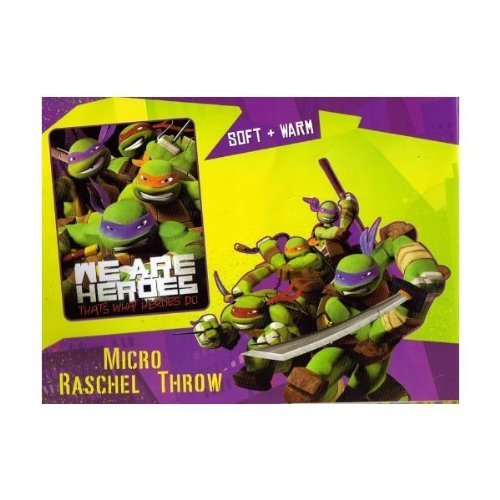 Teenage Mutant Ninja Turtles TMNT Micro Raschel Throw Blanket Bedding