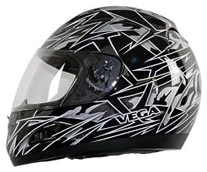 Vega Altura Havoc Graphic Full Face Helmet (Black Metallic, X-Small)