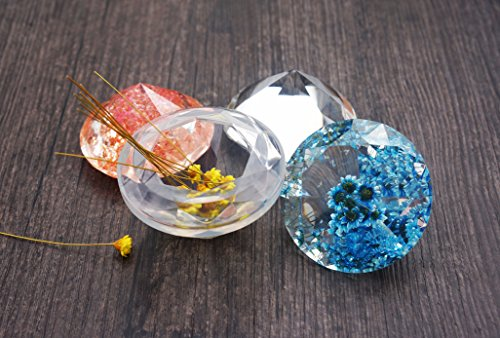 2 Pcs Diy Pendant Resin Jewelry Silicone Mold Crystal
