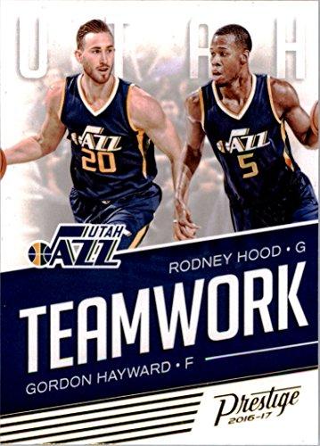 2016-17 Prestige Teamwork #11 Gordon Hayward Rodney Hood -