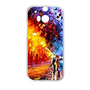 HTC One M8 White Phone Case Oil painting Custom Cell Phone Case Active XTIAEG01531