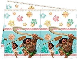 Set completo Disney Vaiana decoración cumpleaños 8 niños (8 platos, 8 tazas, 20 servilletas ,1 mantel) fiesta