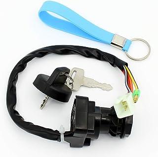 QAZAKY Ignition Key Switch for Suzuki King Quad Runner LTF250F LT-F250F LTF300F LT-F300F LT4WD LT-4WD LTF4WD LT-F4WD LTF4WDX LT-F4WDX Quadrunner 250 300 4WD
