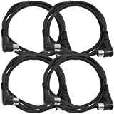 Seismic Audio - SAMIDI5R-4Pack - 4 Pack of 5 Foot Right Angle MIDI to MIDI Data Cables - 5' MIDI Cables