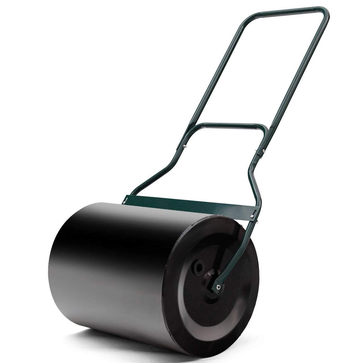 AyaMastro 16-Gallon Garden Push Tow Lawn Poly Roller w/U-Handle with Ebook