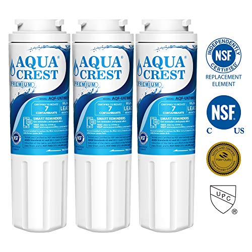 AQUACREST UKF8001 NSF 53&42 Certified Refrigerator Water Filter, Compatible on