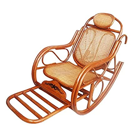 Fabulous Amazon Com Natural Bamboo Rattan Wicker Rocker Rocking Spiritservingveterans Wood Chair Design Ideas Spiritservingveteransorg