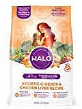 Halo Natural Dry Dog Food, Small Breed Chicken & Chicken Liver Recipe, 4-Pound Bag