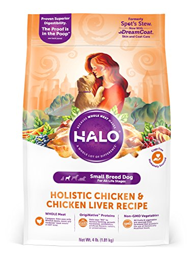 Halo Natural Dry Dog Food, Small Breed Chicken & Chicken Liv