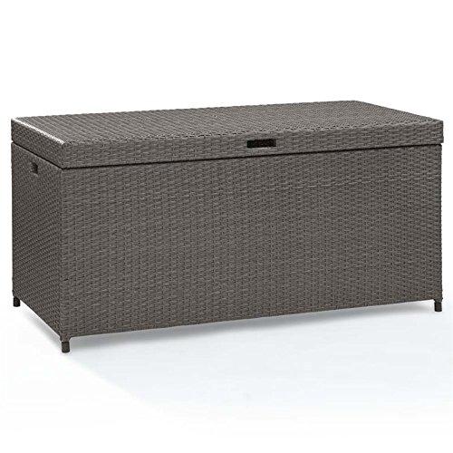 Crosley Furniture Palm Harbor Outdoor Wicker Storage Bin - Grey from Crosley Furniture