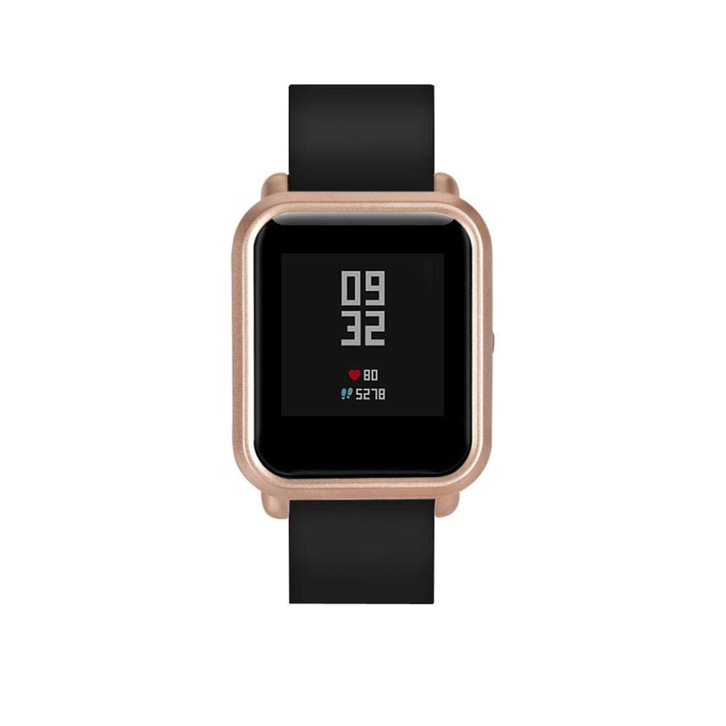... Colorida Carcasa de PC Funda Proteger Carcasa para Xiaomi Huami Amazfit Bip Youth Watch Protector para Reloj (Oro): Amazon.es: Deportes y aire libre