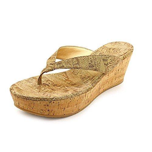 Stuart Weitzman Women's Clasp Tan Nairobi Patch Wedge Sandals Size 9.5 AA, N