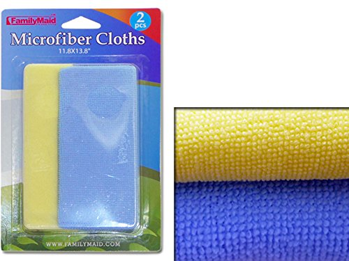 CLOTH MICROFIBER 2PC DUSTING BC 14X23CM H , Case of 96 by DollarItemDirect