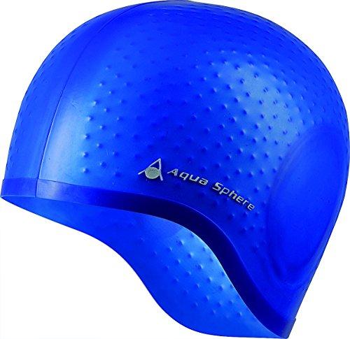 Aqua Sphere Aqua Glide Silicone Swim Cap (Blue) Aqua Sphere Swim Cap