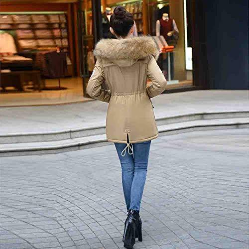 Revel Zipper Hiver Irrégulier Capuche Chaud Tops À Casual Veste Blouson Femme Mode Blouse Loose Manteau Pocket Hoodie Fourrure Poilu Sweatshirt Kaki Pullover Shobdw qExTzPn