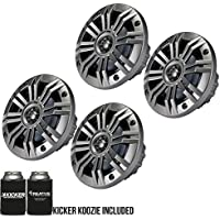 Kicker 4 Inch KM-Series Marine Speakers 41KM44CW bundle