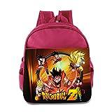Render Dragon Ball Z Goku Children School Pink Backpack Bag